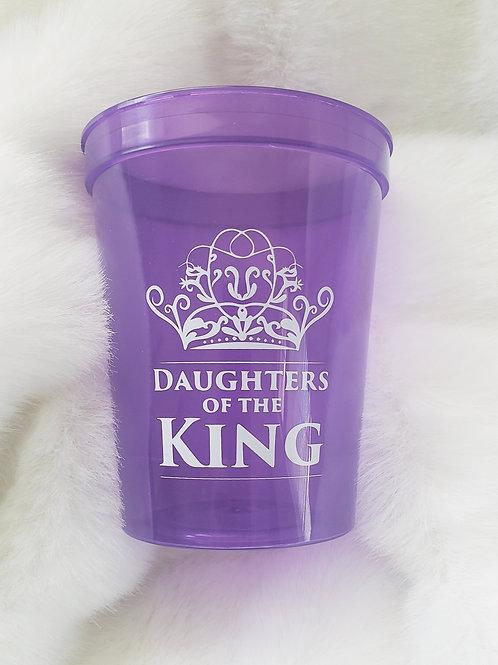 DOTK PURPLE PLASTIC CUP