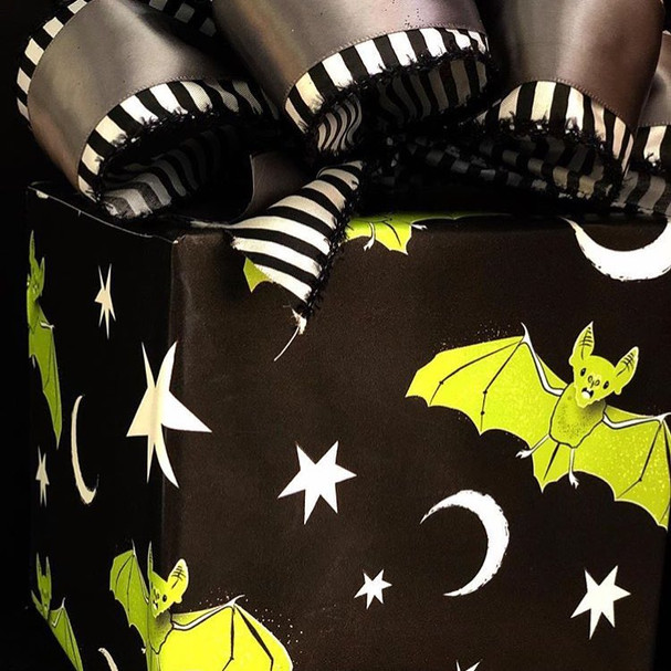 Acid Bats wrapping paper for Skelly Paper Co.
