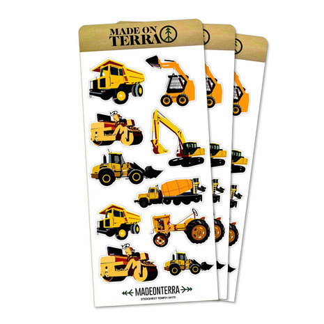 Construction Equipment Stickers