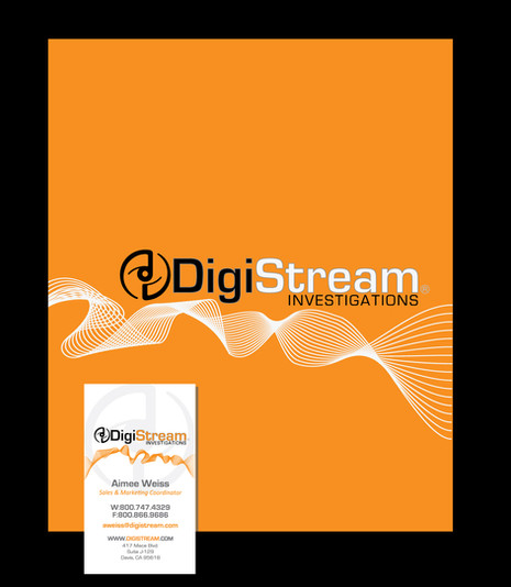 Branded Folders & Business Cards for DigiStream