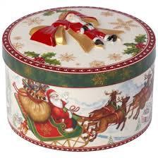 CHRISTMAS TOYS CAJA REGALO MEDIANA REDONDA VUELO SANTA VILLEROY & BOCH