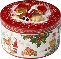 CHRISTMAS TOYS CAJA REGALO MEDIANA REDONDA, RENO SANTA VILLEROY & BOCH