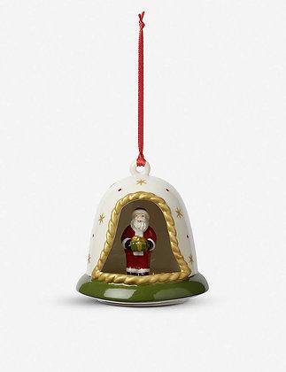 MY CHRISTMAS TREE COLGANTE CAMPANA CON SANTA 8.5 CM VILLEROY & BOCH