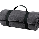 Sports Fleece blanket with carry strap, $20