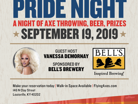 Pride Night at Flying Axes Louisville | Sept. 19