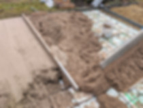 Coloured Concrete Driveway Slab for a Garage in Sylvan Lake