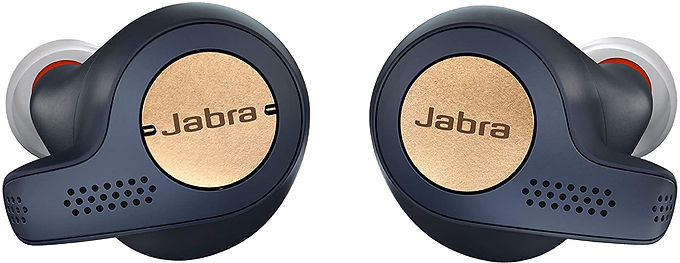 Jabra Elite Active 65t Earbuds True Wireless Earbuds with Charging Case, Copper Blue Bluetooth Earbuds with a Secure Fit and Superior Sound, Long Battery Life and More