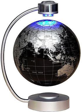 "8"" Magnetic Floating World Map Globe With LED Light - Anti-gravity Levitation Rotating Planet Earth Globe - Creative"