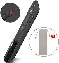 Laser Pointer - Wireless Presenter, RF 2.4GHz Powerpoint Clicker Presentation Remote Control Pen. (Black)
