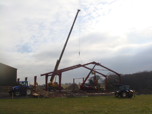 2007 Constructing the new cow shed