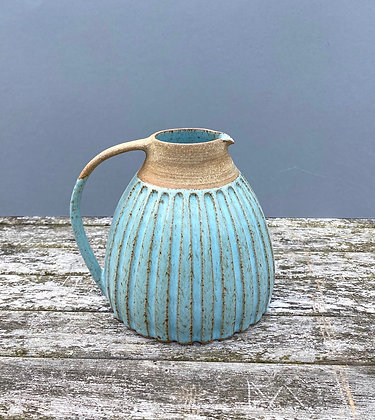 Stoneware Jug with incised grooves