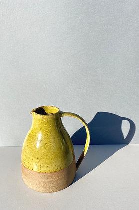 Stoneware Jug with yellow glaze