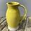 Thumbnail: White stoneware jug in bright yellow glaze