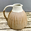 Thumbnail: Stoneware Jug with white glaze and inlaid slip lines