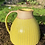 Thumbnail: Stoneware jug with incised lines and satin yellow glaze