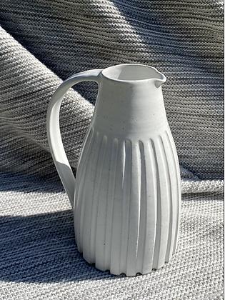 White stoneware Jug in satin white glaze