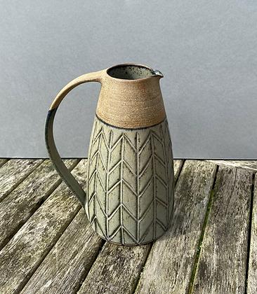 Stoneware jug with Lavender glaze