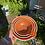 Thumbnail: Porcelain pouring bowls in an orange glaze