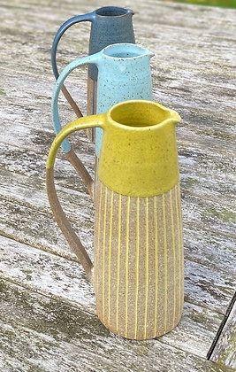 Yellow stoneware jug