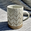 Thumbnail: Large Stoneware mugs with herringbone pattern