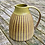 Thumbnail: Stoneware Jug with yellow glaze and inlaid slip lines