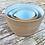 Thumbnail: Large set of Stoneware pouring bowls