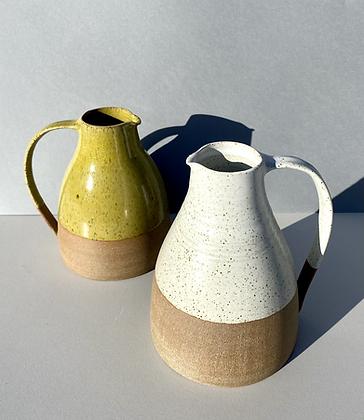 Stoneware Jug with white glaze