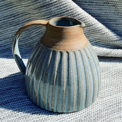 Stoneware jug with Chun glaze