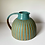 Thumbnail: Stoneware jug with peacock blue glaze and inlaid slip lines