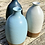 Thumbnail: Stoneware bottle vase in Duck egg blue
