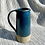 Thumbnail: Stoneware jug in Deep sea blue glaze  with inlaid slipped horizontal lines