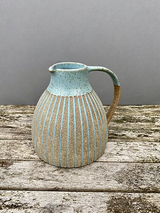 Stoneware Jug with inlaid slip lines