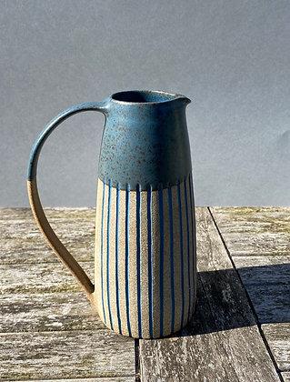 Stoneware Jug with inlaid stripes