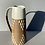 Thumbnail: Stoneware jug with speckled white glaze and diamond pattern