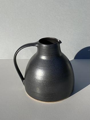 Stoneware jug with anthracite glaze