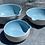 Thumbnail: Porcelain pouring bowls with a satin sky blue glaze