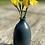 Thumbnail: Stoneware bottle vase with a Deep sea blue glaze