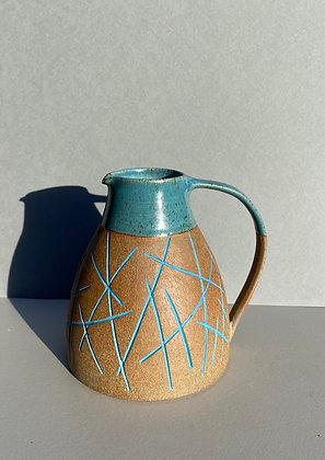Stoneware Jug with inlaid random slip