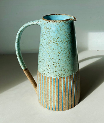 Stoneware Jug with inlaid slipped lines