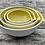 Thumbnail: Porcelain pouring bowls with a satin yellow glaze
