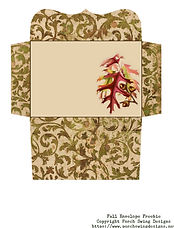Fall Envelope Freebie