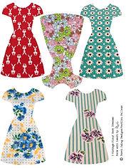 5 vintage dresses