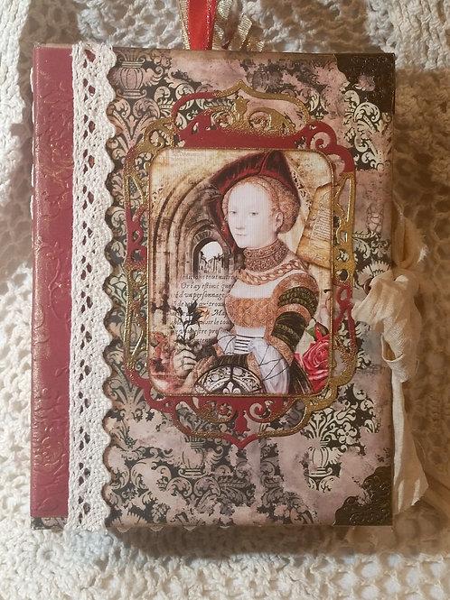 """""""Medieval Rose Motif"""" Vintage Journal"""