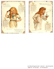 1896 Children's Calendar Journal Cards 2