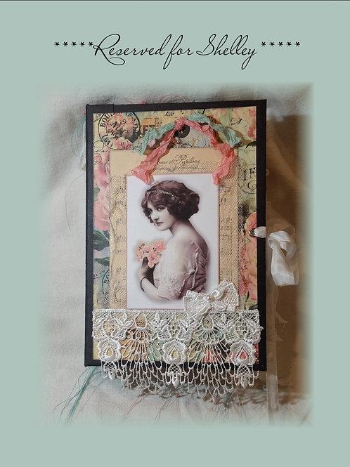 Collaged Roses Vintage Junk Journal