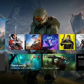 A atualização mais recente para Insiders do Xbox Series X melhora a dashboard para telas de 4K
