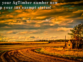 It's time to renew your AgTimber number!