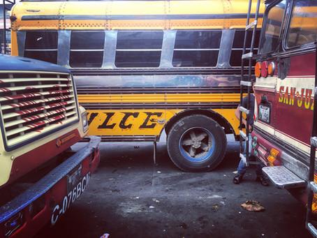 Clo's Next ViewPoint: Xela's bus stop, Guatemala.