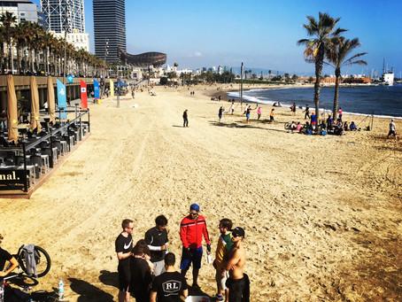 Out Of Breath: Puerto Olimpico Beach @ Barcelona, Spain