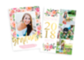 Graduation Invitation _ Floral Frenzy Mo